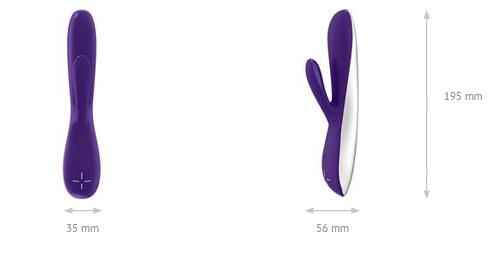Vibrador rabbit Ovo E5 recargable 2