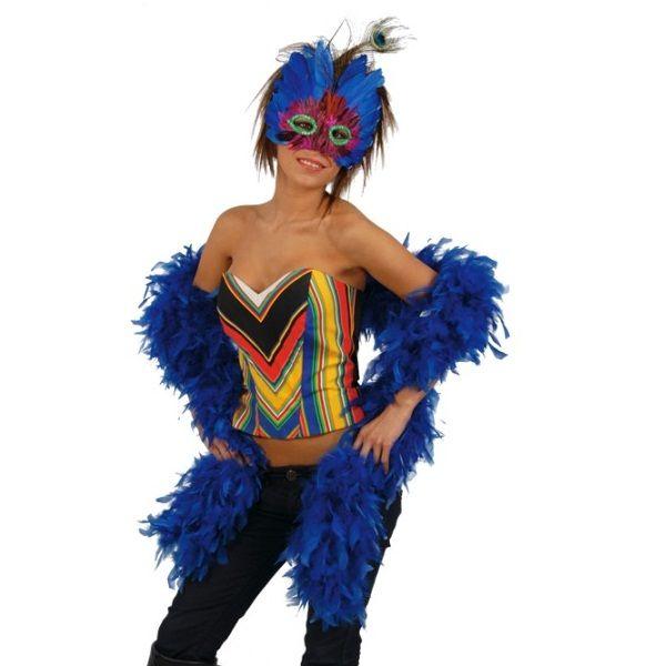 Boa plumas azul1