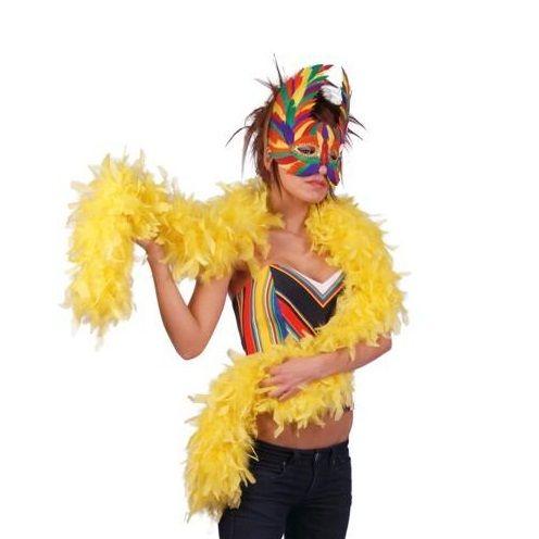 Boa plumas amarillo 1