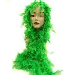 Boa plumas verde 1