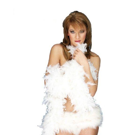 Boa plumas blanco 1