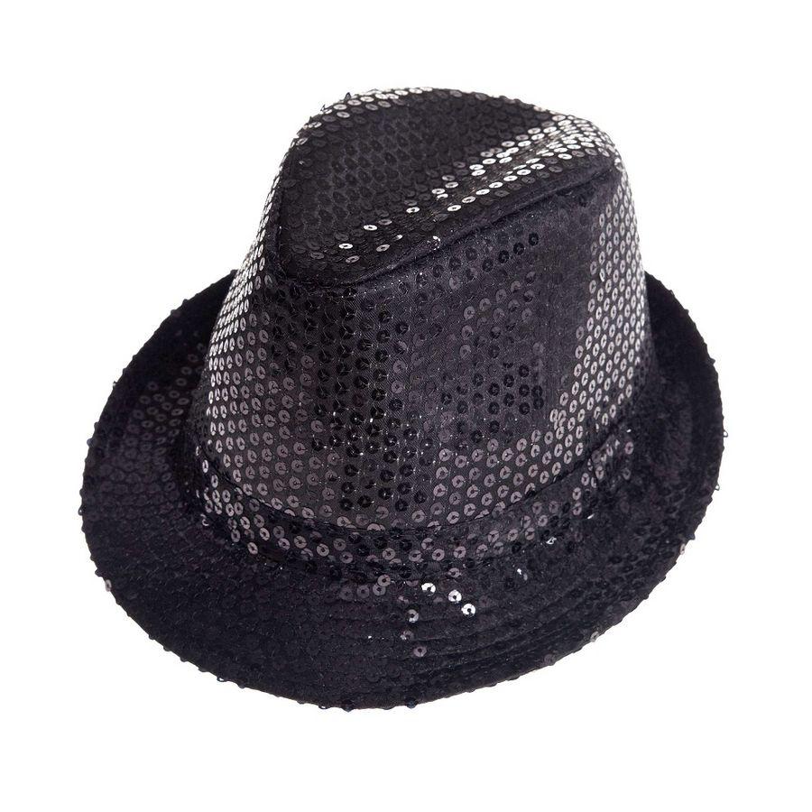 Aliv sombrero con lentejuelas negro