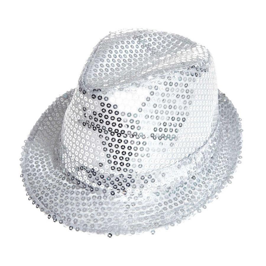 Aliv sombrero con lentejuelas plata