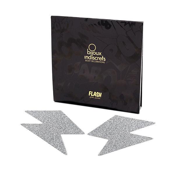 Bijoux pezoneras flash rayo plata