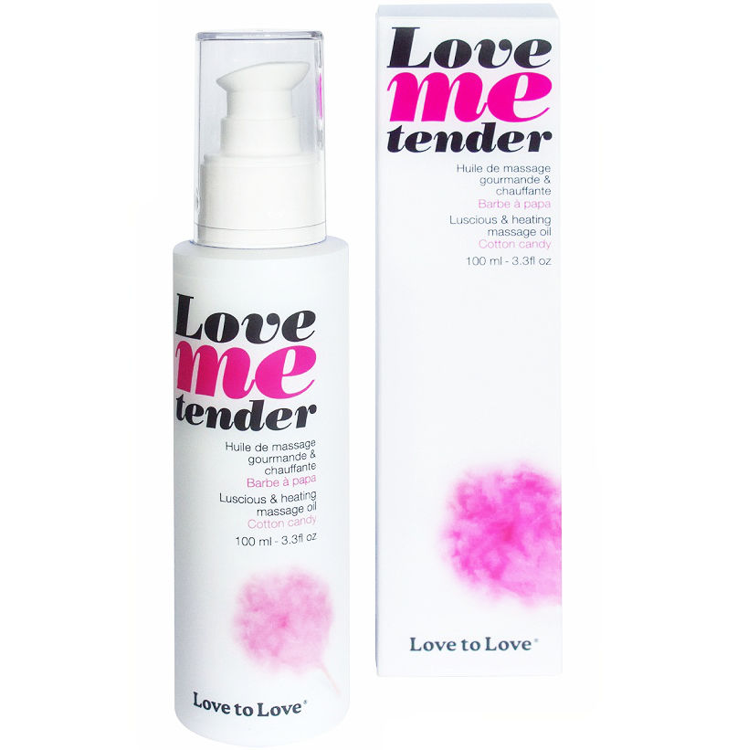Love to love me tender masaje & efecto calor sabor a nubes algodon 100ml