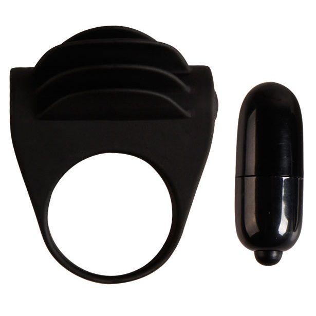 Pretty love chester anillo vibrador negro