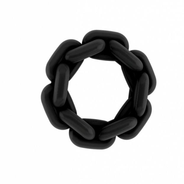 Sono anillo silicona negro 2