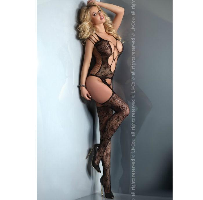 Bansari livia corseti cuerpo en red  negro s/l