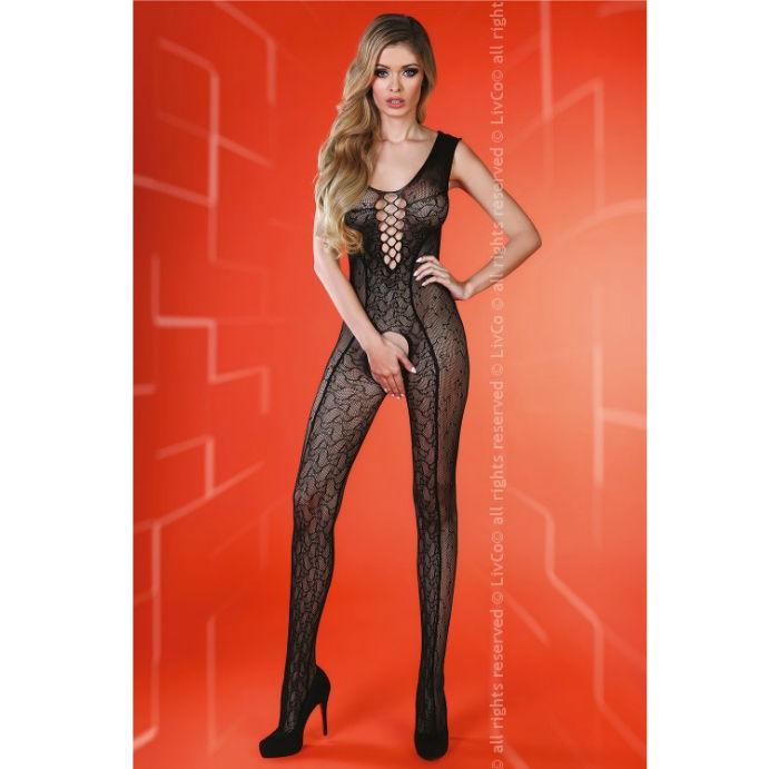 Sierra livia corseti cuerpo en red negro s/l