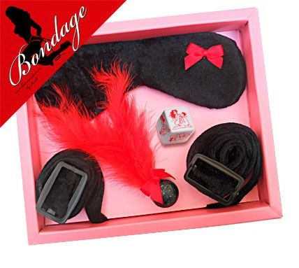 Kit antifaz bondage negro