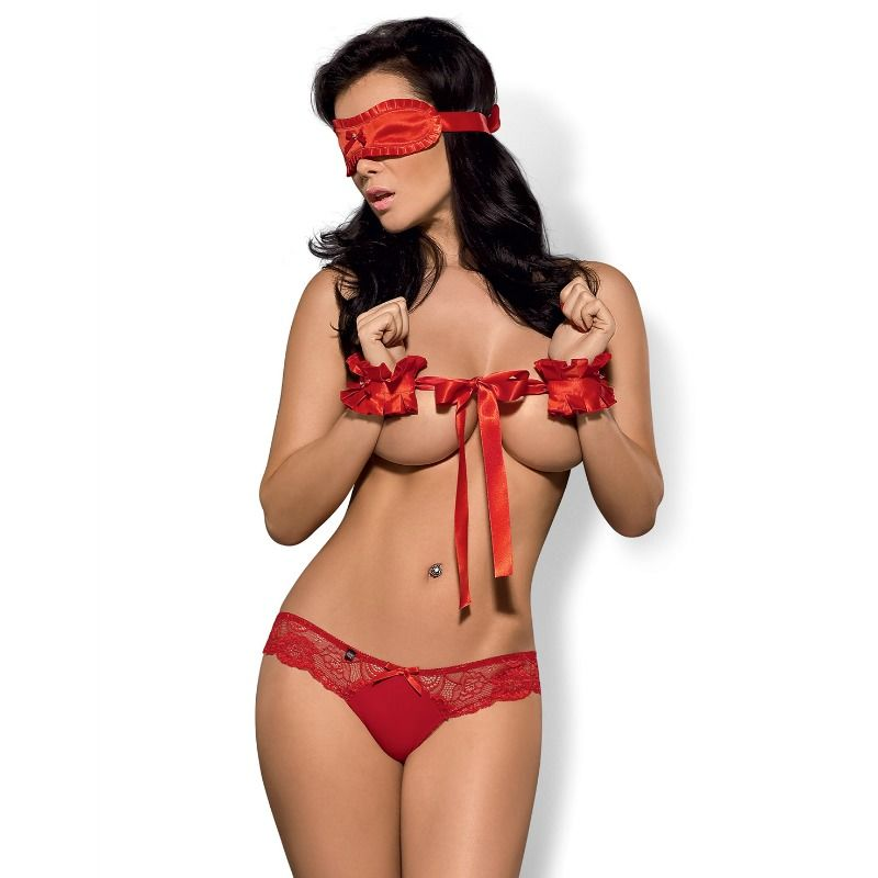 OBSESSIVE SECRED 3PCS SET ROJO L/XL