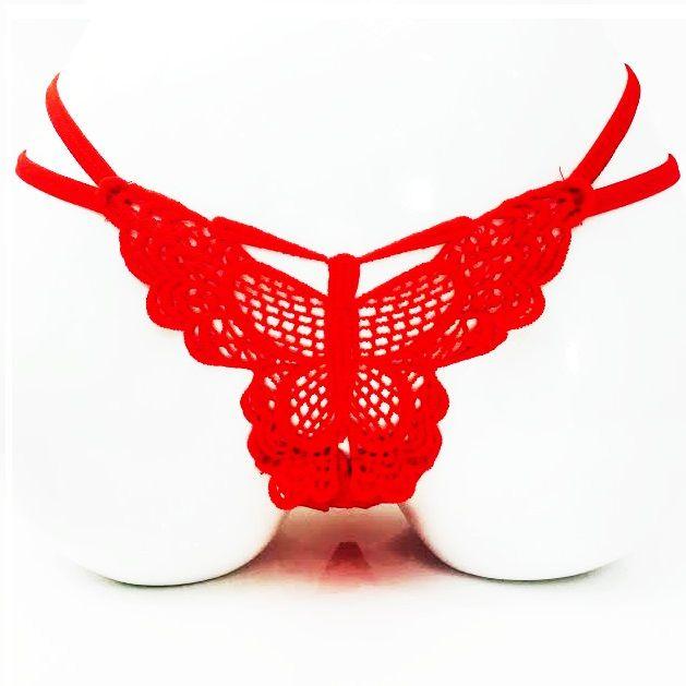 tanga rojo navidad mariposa
