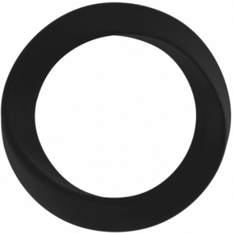 Mjuze anillo para pene silicona infinity delgado l negro