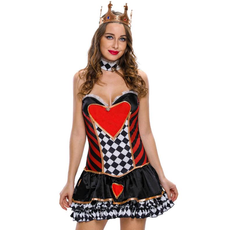 Queen disfraz reina de corazones talla m