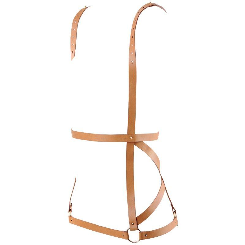 Bijoux indiscrets maze arnés forma de vestido - marron