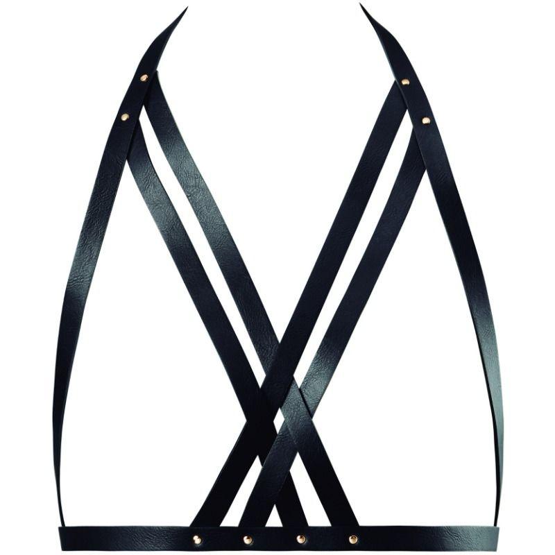 Bijoux indiscrets maze sujetador con correas - negro
