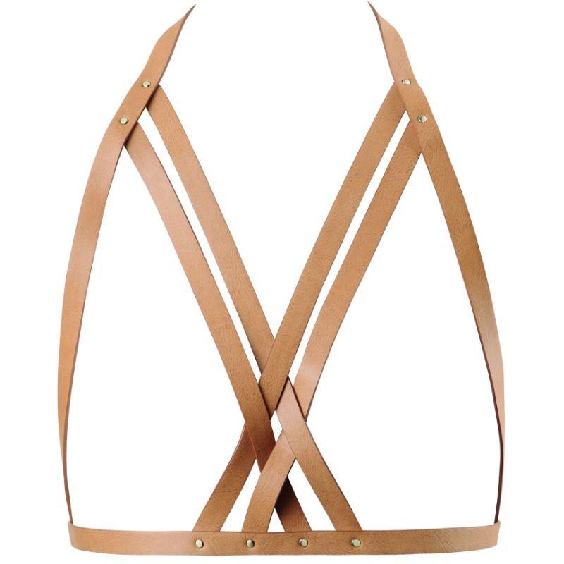 Bijoux indiscrets maze sujetador con correas - marrón
