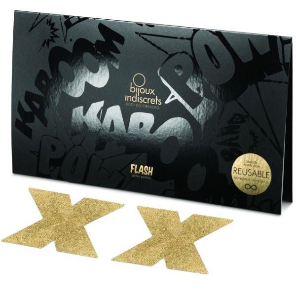 Bijoux pezoneras flash cruz gold