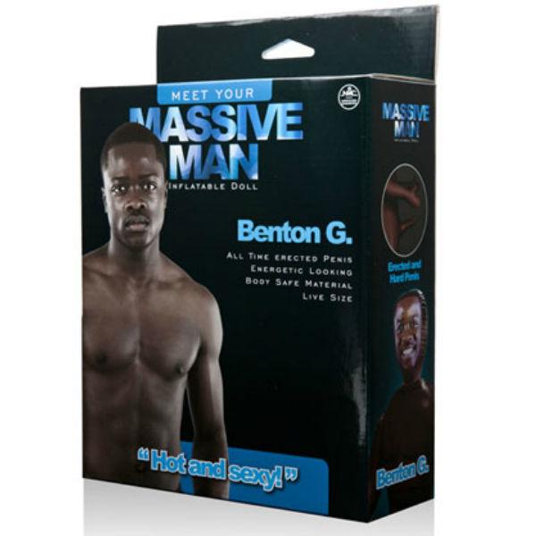 Massive man muñeco hinchable negro benton g