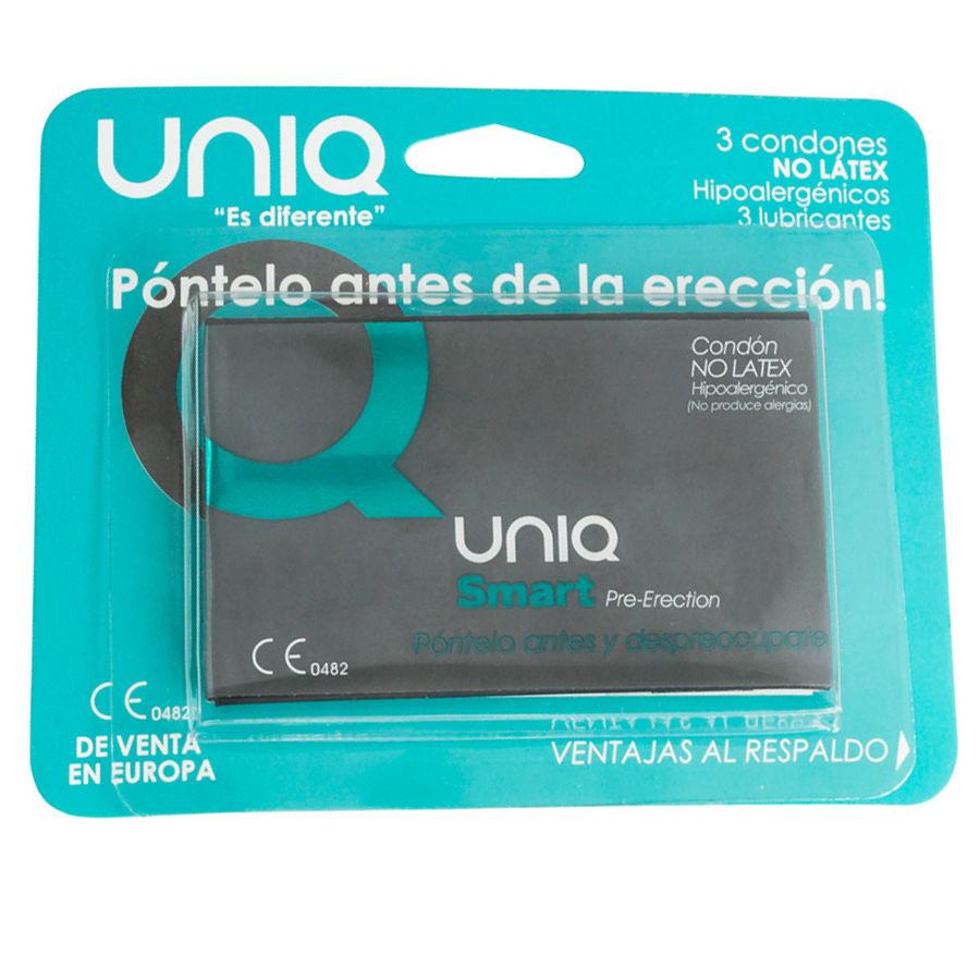 Uniq smart pre-erección preservativo sin latex  3uds