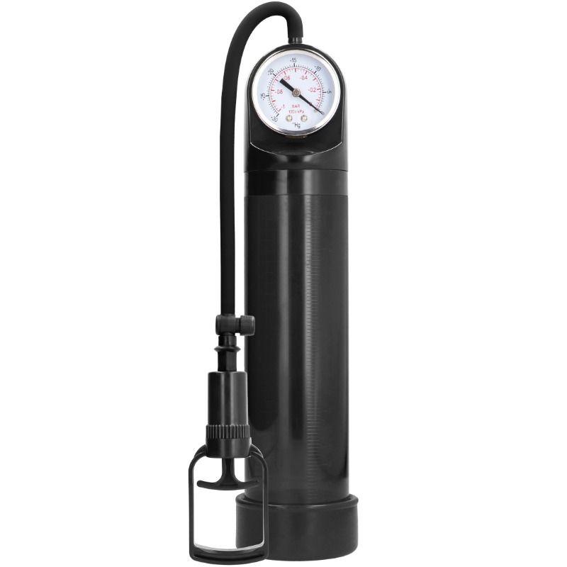 Pumped - bomba de ereccion con sistema de medicion avanzado - negro