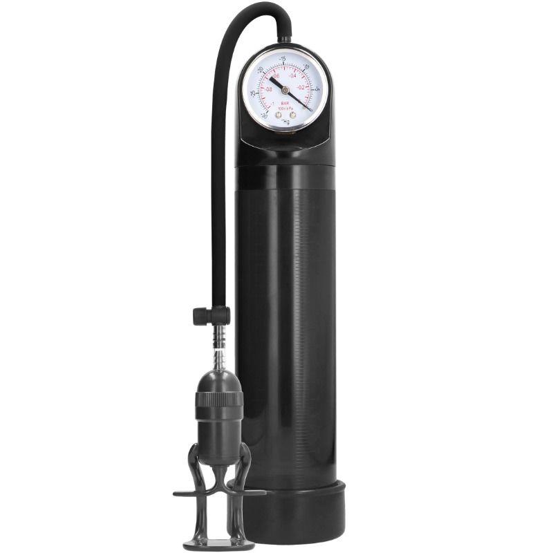 Pumped - bomba ereccion deluxe con medicion avanzada - negro