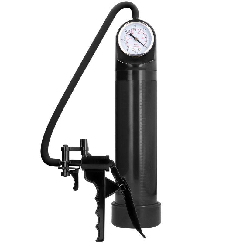Pumped - bomba de ereccion de elite con sistema de medicion avanzado - negro