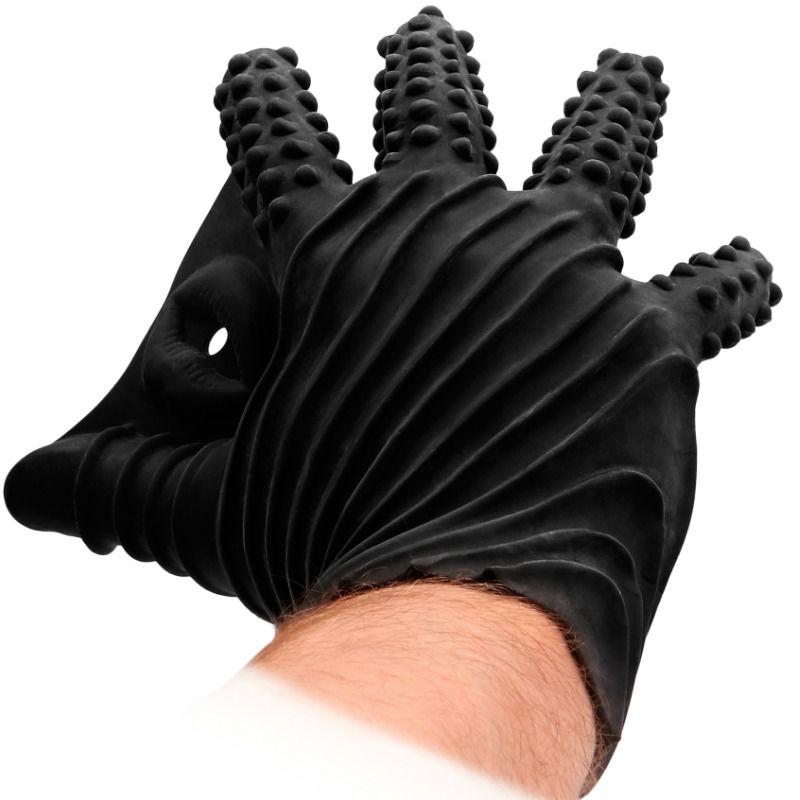 Fistit - guante masturbador silicona - negro