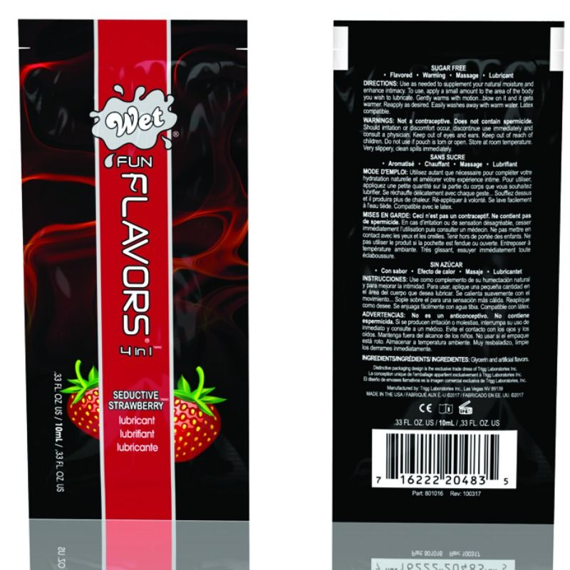 Wet fun flavors 4-in-1 sabor a fresa seductiva 10ml