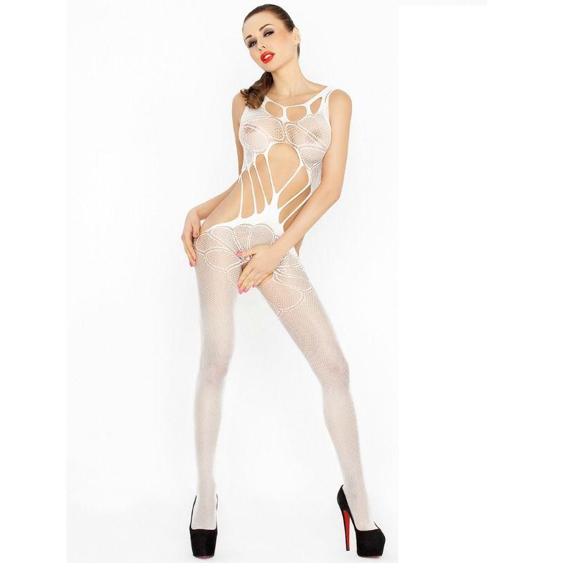 Passion woman bs030 bodystocking blanco talla unica