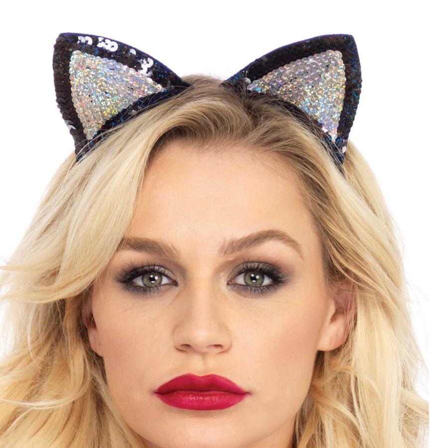 Leg avenue orejas de gatito con lentejuelas