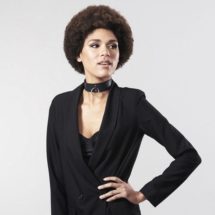 Bijoux indiscrets maze  collar negro con correa
