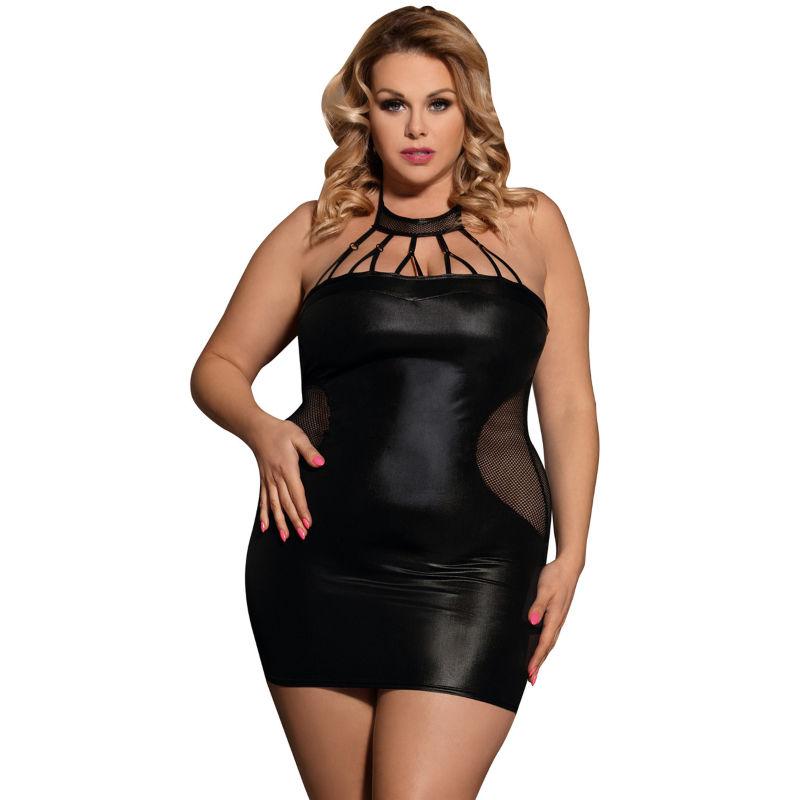 Subblime queen plus vestido con tiras negro