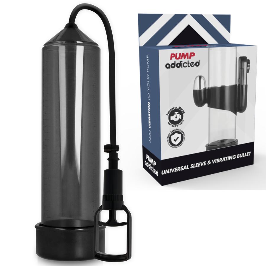 Pump addicted bomba erección rx7 negro con vibrador