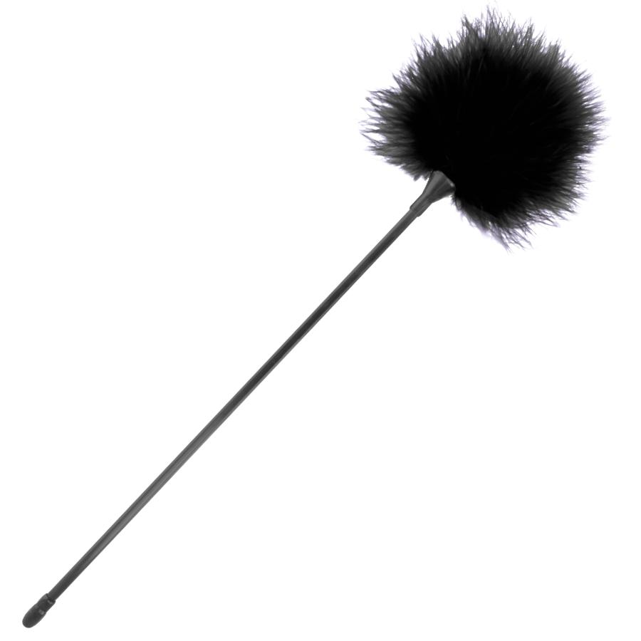 Darkness pluma estimuladora negro 42cm