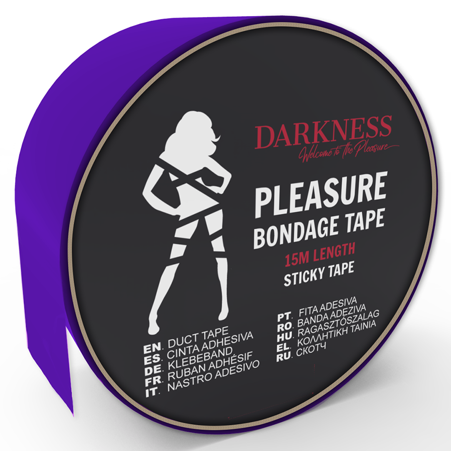Darkness cinta para bondage lila adhesiva 15m