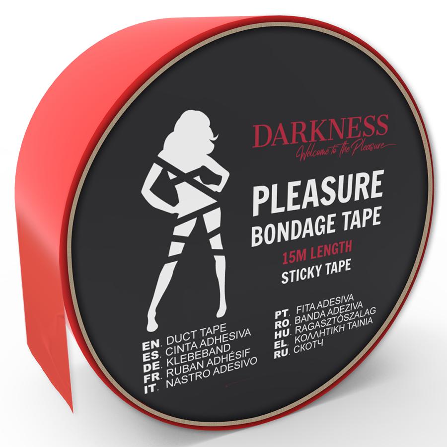 Darkness cinta para bondage rojo adhesiva 15m