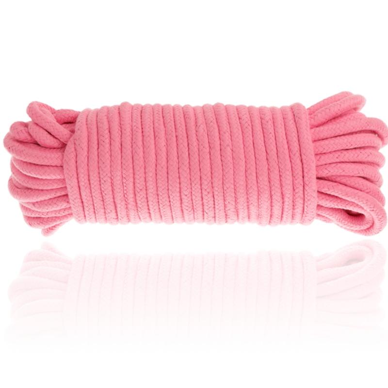 Cuerda algodon bondage 20 metros rosa