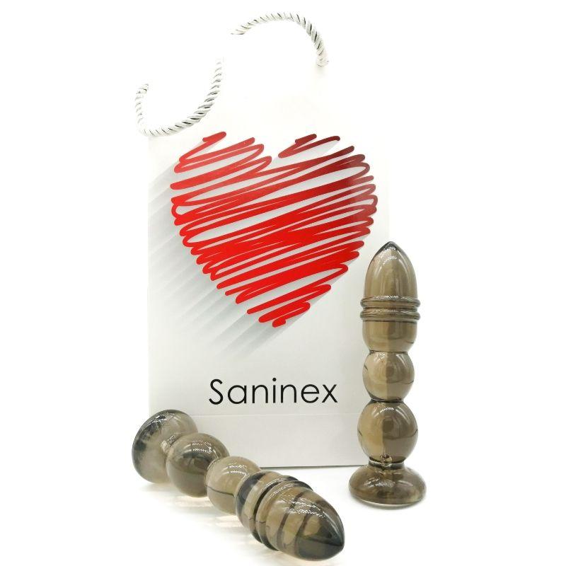 SANINEX DELIGHT PLUG-DILDO TRANSPARENTE OSCURO