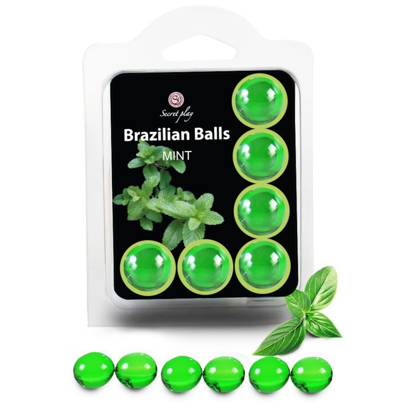 SECRETPLAY SET 6 BRAZILIANS BALLS MENTA