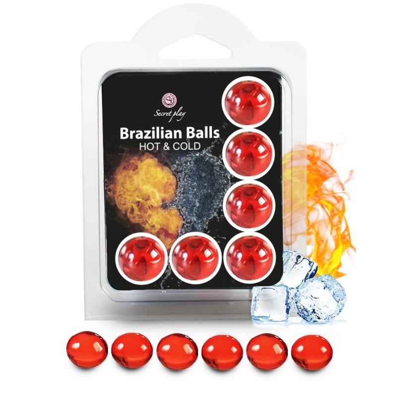 SECRETPLAY SET 6 BRAZILIAN BALLS EFECTO FRIO Y CALOR