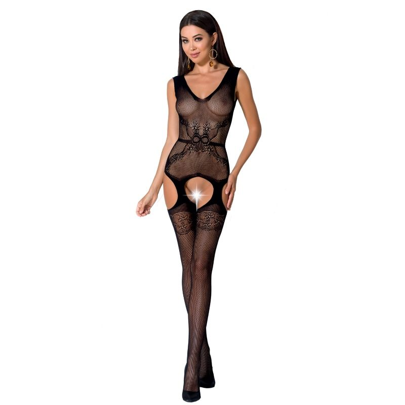 PASSION WOMAN BS062 BODYSTOCKING NEGRO TALLA UNICA