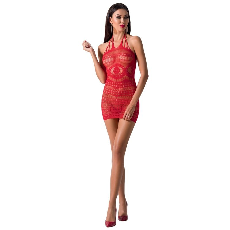 PASSION WOMAN BS063 VESTIDO ROJO TALLA UNICA