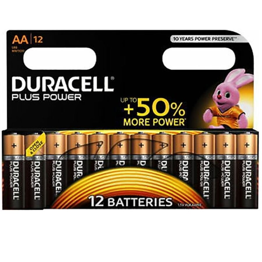DURACELL PLUS POWER PILA ALCALINA AA LR6 BLISTER*12