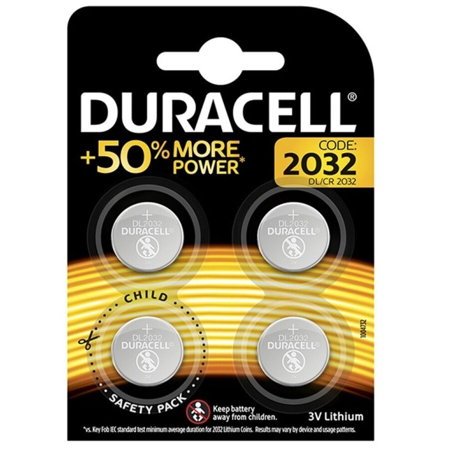 DURACELL PILA BOTON LITIO CR2032 3V BLISTER*4
