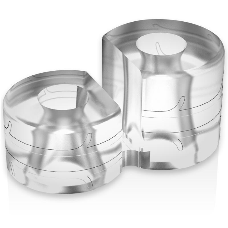 Powering super flexible y resistente anillo pene doble pr09 clear