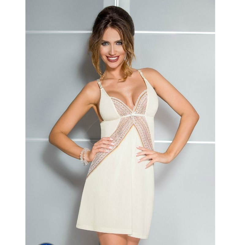 CASMIR CHEMISE CONNIE COLOR CREMA TALLA
