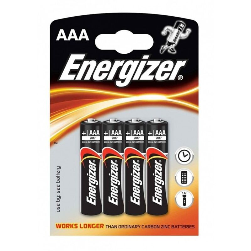 ENERGIZER ALKALINE POWER PILA ALCALINA AAA LR03 BLISTER*4
