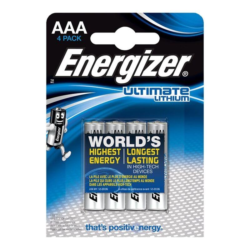 ENERGIZER ULTIMATE LITHIUM PILA LITIO AAA L92 LR03 1,5V BLISTER*4