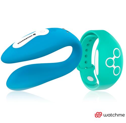 WEARWATCH DUAL PLEASURE WIRELESS TECHNOLOGY WATCHME INDIGO / AQUAMARINE - International Dreamlove S.L.
